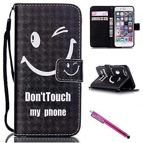 Coque iPhone 6/6S, Firefish Kickstand Flip [Slots pour cartes] Housse pour portefeuille Double couche de pare-chocs avec fermeture magnétique Housse de protection pour Apple iPhone 6 / 6S