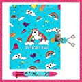 SECRET LOCKABLE DIARY & PEN GIFT SET FOR GIRLS: Fun, Private Journal With Lock & Key. Great Birthday Gifts For Girls Of All Ages: 3 4 5 6 7 8 9