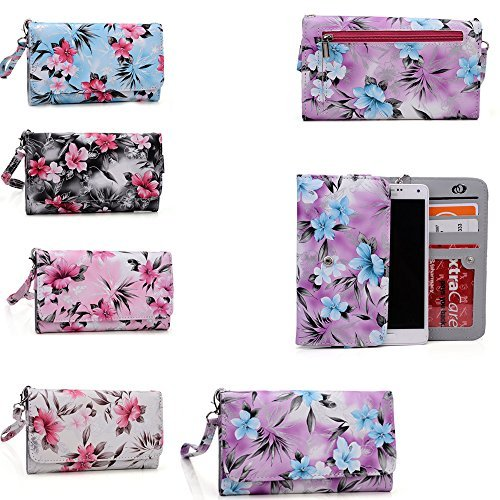 Alcatel Flash Plus,Alcatel One Touch Fierce XL,Alcatel one touch hero 2 Floral phone case holder w/wallet features