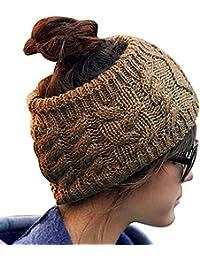 Wuiyepo Mode Crochet Knit Twist de la femme de style bandeau tête envelopper Chapeaux