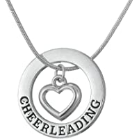 Skyrim Fashion Metal Necklace with Cheerleading Heart and Round Pendant for Teen Girls and Women