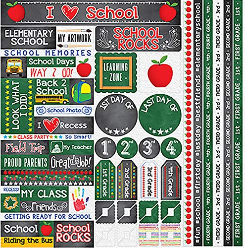 "Unbekannt You've Been Schooled Variety Stickers 12""X12""-1st - 4th Grade"
