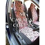 Fiat Punto Car–Juego de fundas de asiento completo Cerise Rosa Hippy de flores