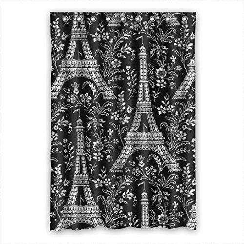 Doubee torre Eiffel tenda da doccia impermeabile in poliestere per repellente 121,9x 182,9cm, Poli