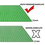 NextX-4-Piastre-Base-Compatibili-con-Giochi-di-Costruzioni-Classici-Basi-in-Plastica-ABS-Non-Tossico-Dimensioni-25-x-25-cm