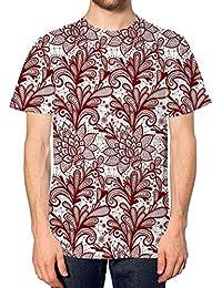 Rojo T-camiseta para hombre de encaje en la parte superior y pantalones de  deporte 08a52be6ee5