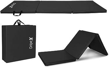 Dripex Gymnastikmatte Dreifach Faltbare Tragbare 180x60x5cm Trainingsmatte Gym Fitness Yogamatte für Heimgymnastik