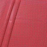 Baumwollstoff beschichtet Punkte Stoff Meterware Rot