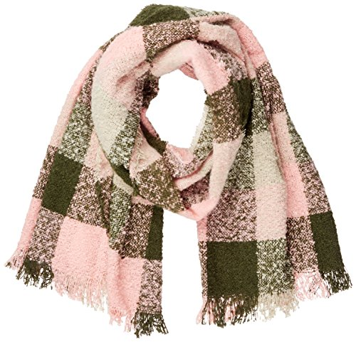 ICHI Damen A BEA Check Scarf Schal, Mehrfarbig (Grape Leaf 13312), One Size