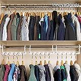 Organizador perchas para armario. Organiza tu ropa ganando espacio .