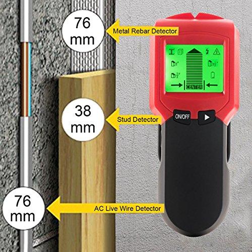 Ortungsgerät Wand Detektor für Holz And Metall-Ständerwerk, Rohre Und Metall Sowie Zum Auffinden Und Nachverfolgen Von Spannungsführenden Leitungen Stud Pinpoint