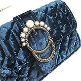 Onfashion Damen Frauen Grün Winter Samt Clutches Abendtaschen Handtaschen Geldbeutel Mädchen Mit Perle