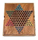 ROMBOL Halma, Holz, Reisespiel, Strategiespiel, Familienspiel, Brettspiel, Gesellschaftsspiel aus Holz