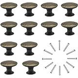 Commodeknoppen ladenknoppen set 12 stuks meubelknoppen ladegrepen vintage messing antiek φ30 mm knop voor kast lade keuken