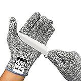 elelight 5085resistente al corte guantes con nivel 5guante de protección, profesional de alto rendimiento para trabajo o el hogar