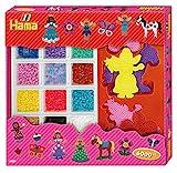 Hama 3063 - Super Geschenkpackung, ca. 6000 Bügelperlen, 5 Stiftplatten und 6 Motivstützen
