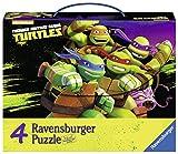 Ravensburger 07299 - Tartarughe Ninja Valigetta con 4 Puzzle