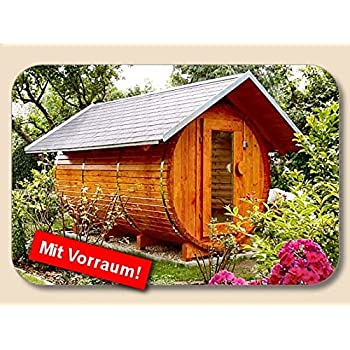 junit d3020v10 saunafass fasssauna mit vorraum 3m l nge und 2m d garten. Black Bedroom Furniture Sets. Home Design Ideas
