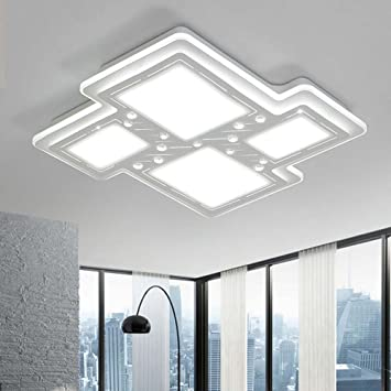 LIXIONG Acrilico geometrica piazza semplice LED moderno plafoniere ...