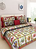 Sonal Textiles Cotton Printed Double Bedsheet With 2 Pillow Cover