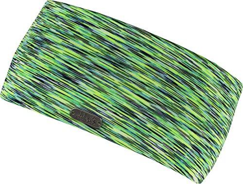Damen Kopfband Haarband in vielen Farben für Sport und Freizeit doppellagig (neonyellow-green)