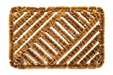 FabaHome Fußmatte Drahtgitter, Schmutzfangmatte, Schmutzmatte, sehr robust, wetterfest, Drahtgittermatte für groben Schmutz, Drahtmatte 60 x 40 cm, Muster B