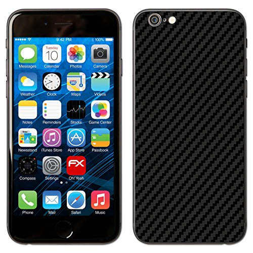 "Skin Apple iPhone 6 ""FX-Carbon-Red"" Designfolie Sticker FX-Carbon-Black"