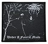 DARKTHRONE Aufnäher UNDER A FUNERAL MOON Patch gewebt 10 x 9 cm