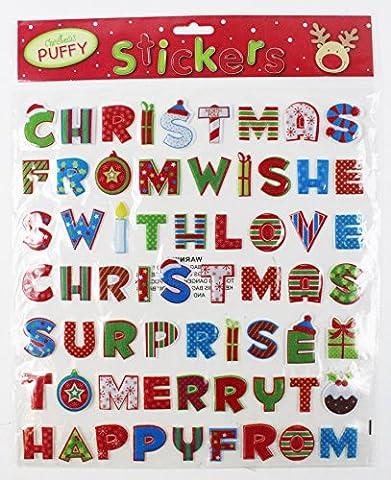 Noël fenêtre PUFFY Pochettes Texte