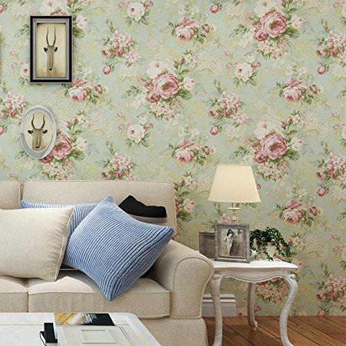 GK-Einfache europäische Stil Wand Warmes TV Hintergrund Tapete DekorationBedroomKlassische amerikanische plain Veranda TV Hintergrund Wand Papier Tapete große Blume in Süd-Ost-Asien Tapeten , flowers