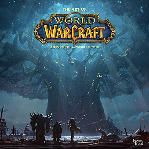 The Art of World of Warcraft 2019 - 18-Monatskalender: Original BrownTrout-Kalender [Mehrsprachig] [Kalender]