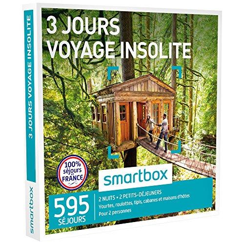 SMARTBOX - Coffret Cadeau - 3 JOURS - VOYAGE INSOLITE - 595 séjours : yourtes,...