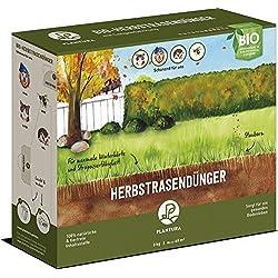 Plantura Bio Herbstrasendünger Langzeitwirkung | für maximale Winterhärte | 100% tierfrei & Bio-Zertifiziert | Gut für Den Boden | unbedenklich für Haus- & Gartentiere | Naturdünger | NPK 5-1-9 (3)