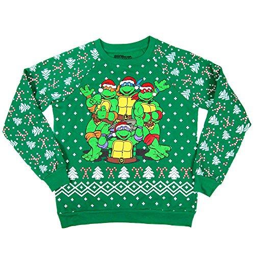 auen Teenage Mutant Ninja Turtles Weihnachten Sweatshirt Grün Klein – Europäischen 36 Grün (Ninja Turtle Kostüme Frauen)