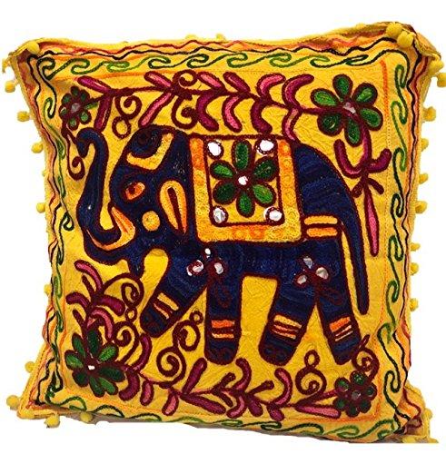 Kikan Indian Suzani étnico Vintage fundas de cojín bordado espejo 16