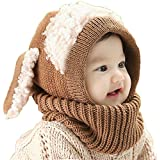 FEITONG(TM) Lovely Winter Baby Kids Girls Boys Warm Woolen Coif Hood Scarf Caps Hats