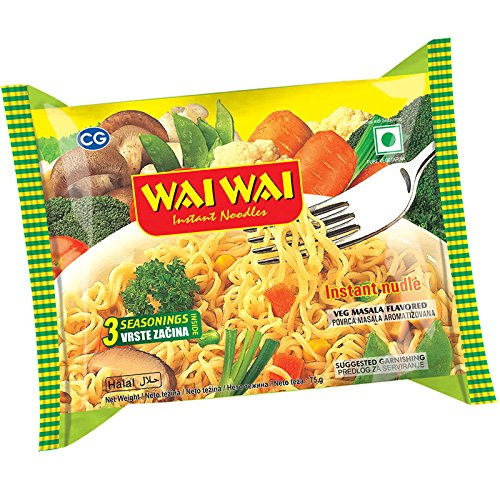 Wai Wai Instant Noodles (Chicken and Vegetable Flavour) - Pack of 1, 5, 10 and 40 (Chicken Pizza, 40(40 Packets))