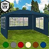 Festzelt weiß Maui 3x4m Farbauswahl Seitenwände Rundbogenfenster Verankerbar Partyzelt Pavillon ✔ 12qm ✔ UV-Schutz +50