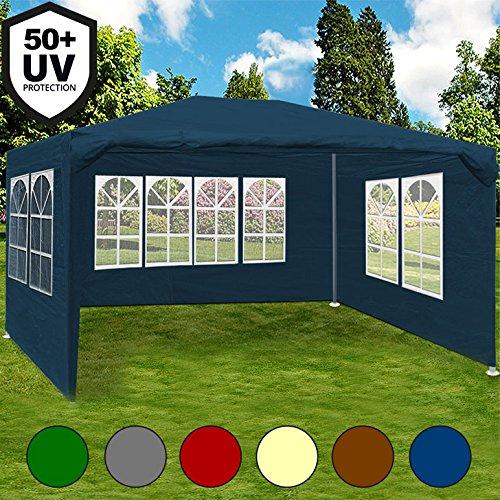 Festzelt weiß Maui 3x4m Farbauswahl Seitenwände Rundbogenfenster Verankerbar Partyzelt Pavillon  12qm  UV-Schutz +50