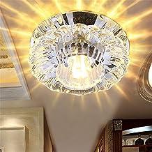 LED Moderno colgante de techo de montaje empotrado accesorios de luz led Spotlight lámpara de techo 3w5w corona de luz fondo de Luz Lámpara de pared de cristal Iluminación de techo, downlight 100 * h50mm