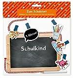 Fotoleine - Zum Schulstart: Fotoleine mit 5 Motiv-Klammern und Tafel zum Beschriften