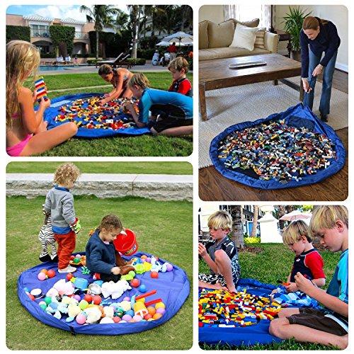 Hiveseen Kinder Spielmatte Aufräumsack Spieldecke Foldable