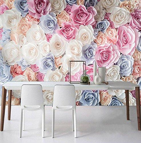 Kuamai Foto De Fondo De Pantalla Moderna Flor Romántica Mar Flor Mural Sala De Estar Dormitorio Boda Casa Telón De Fondo Pared Decoración Papel De Pared 3D-280X200cm