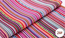 Generic ZERZEEMOOY 100X145CM polyester/cotton fabric ethnic decorative fabrics for sofa cover cushion cloths curtains 24 HOT
