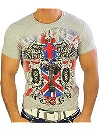 Rusty Neal 4312 Party Club Kurzarm Style Strass T-Shirt Größen S M L XL XXL