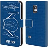 Official Star Trek Romulan Bird Of Prey Ships Of The Line TOS Leather Book Wallet Case Cover For Samsung Galaxy S5 mini