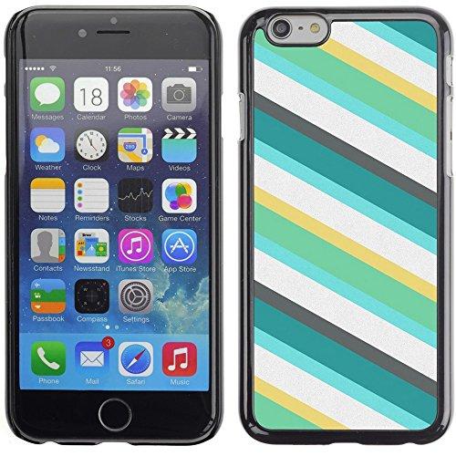 Graphic4You COLORED WOOD PLANKS Muster Harte Hülle Case Tasche Schutzhülle für Apple iPhone 6 Plus / 6S Plus Design #19