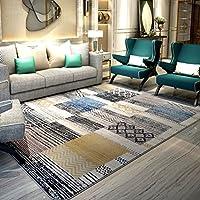 Bath Time Flagship Store LUYIASI- Teppich Wohnzimmer Couchtisch Schlafzimmer Nachttischdecke Moderne Minimalistische Geometrische Teppich Non-Slip Mat (Farbe : C, Größe : 130x190cm)
