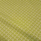 Stoff Baumwollstoff Meterware Japan Fächer Raute hellgrün lime messing Kimono Neu Mode Trend