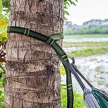 Irainy Hängematten Befestigungs-set Baum, [2 Set] 10 Feet Polyester Aufhängeset Für Hängematte W 2 Heavy Duty Karabiner Tragetasche, Passend Für Alle Hängematten 4